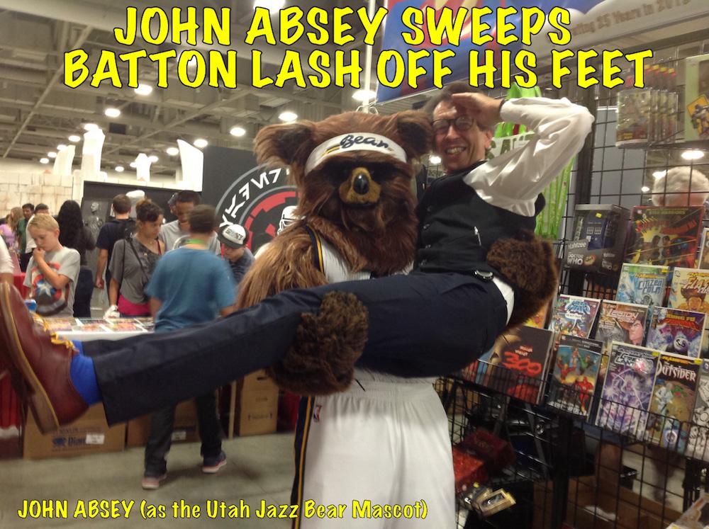 Batton Lash • John Absey as the Utah Jazz Bear mascot • Night Flight Comics