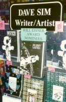 Dave Sim Cerebus book display at Night Flight